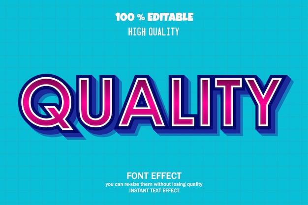 Texto de qualidade, efeito de fonte editável