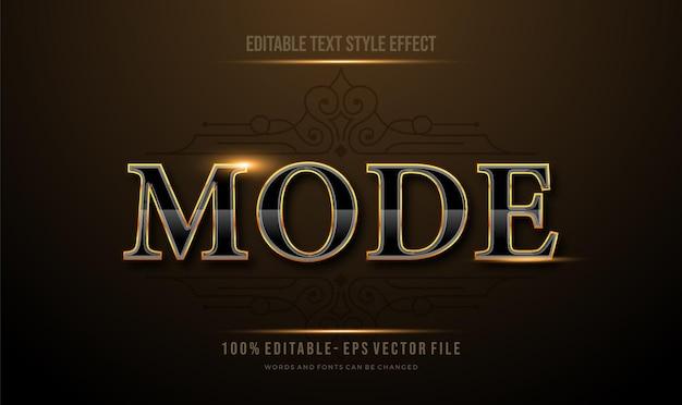 Texto de reflexão de luxo dourado moderno editável efeito de estilo de texto