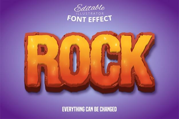 Texto de rock, efeito de fonte editável