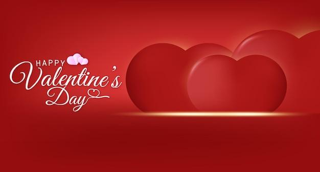 Texto de saudação de feliz dia dos namorados com fundo de corações