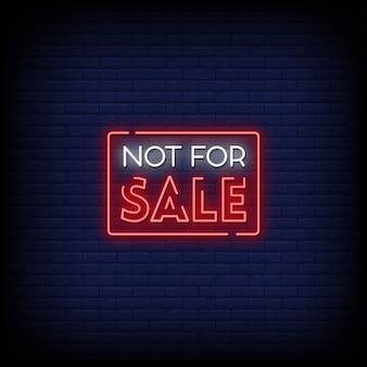 Texto de sinais de néon à venda