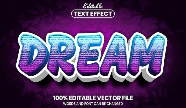 Texto de sonho, efeito de texto editável