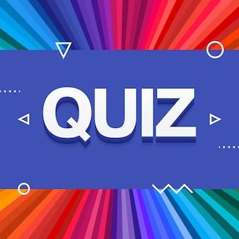 Texto de teste colorido 3d sobre fundo de raios coloridos do arco-íris. ilustração vetorial