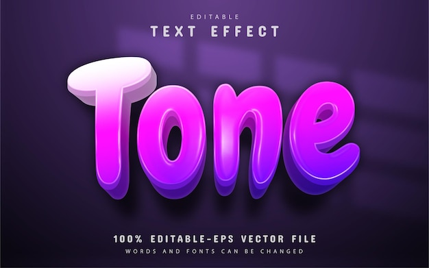 Texto de tom, efeito de texto gradiente roxo