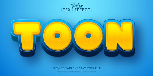 Texto de toon, efeito de texto editável 3d