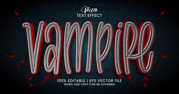 Texto de vampiro, modelo de estilo de efeito de texto editável de terror