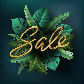 Texto de venda contra plantas tropicais.