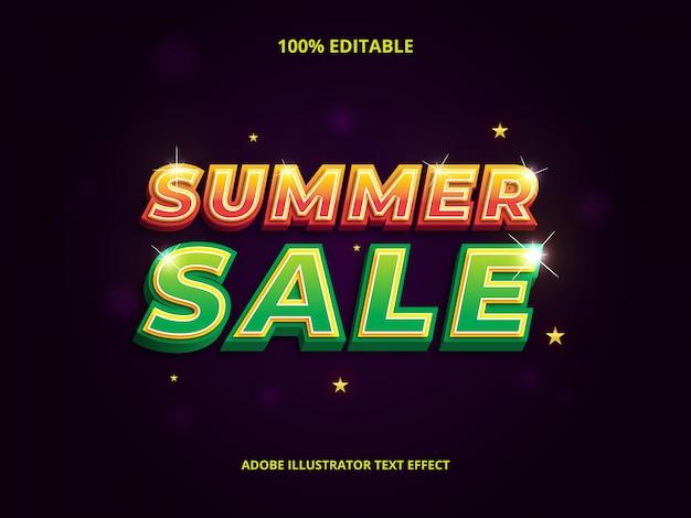 Texto de venda de verão com duas cores