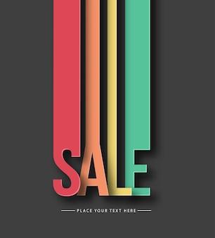 Texto de venda feito moderno na moda pell off design template vector design