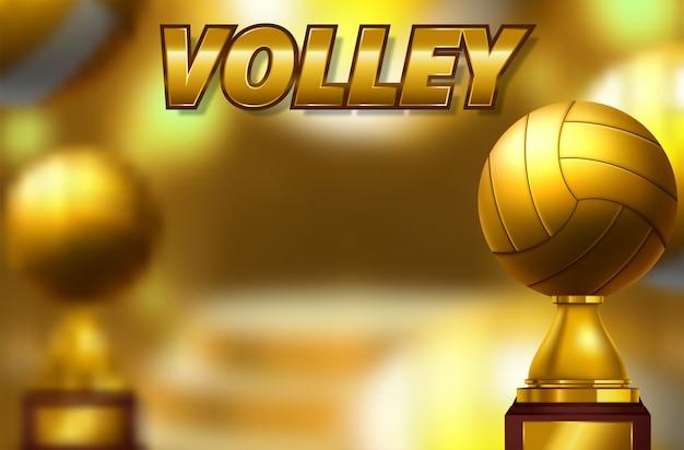 Texto de voleibol em um fundo abstrato