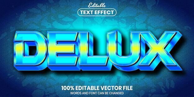 Texto delux, efeito de texto editável de estilo de fonte