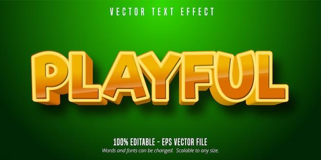 Texto divertido, efeito de texto editável de estilo cômico