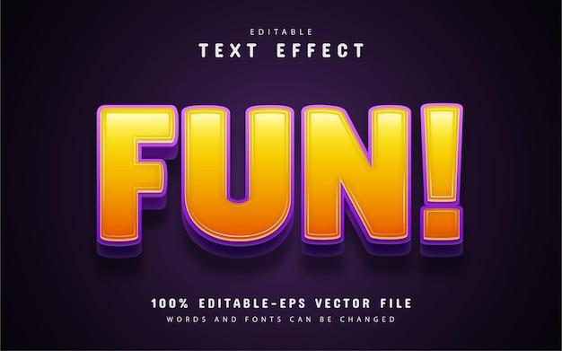 Texto divertido, efeito de texto editável no estilo desenho animado