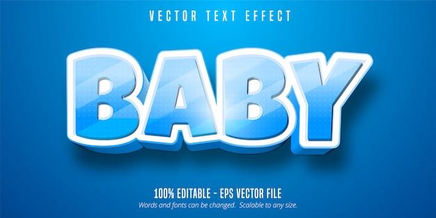 Texto do bebê, efeito de texto editável no estilo desenho animado