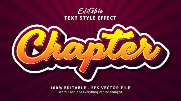 Texto do capítulo multicolorido com estilo de adesivo, efeito de texto editável