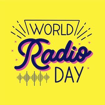 Texto do dia do rádio mundial plano