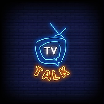 Texto do estilo do logotipo da tv talk