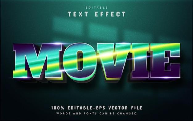 Texto do filme, efeito de texto gradiente editável