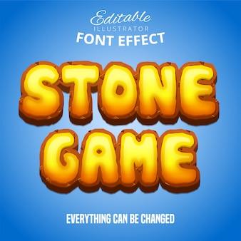 Texto do jogo de pedra, efeito de fonte editável