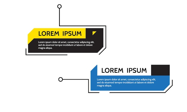 Texto do quadro de título de legendas digitais hud conjunto de modelos banners modernos elemento de design vetorial