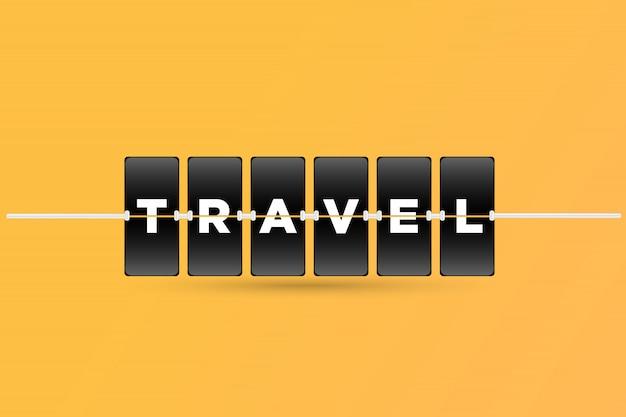 Texto do viajante no estilo da placa de tabela do tempo. vetor