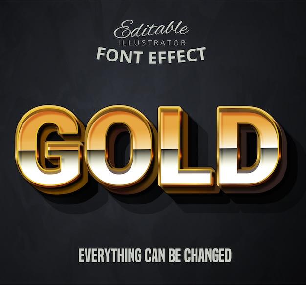 Texto dourado, efeito de fonte