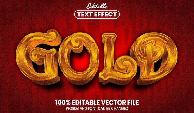 Texto dourado, efeito de texto editável de estilo de fonte
