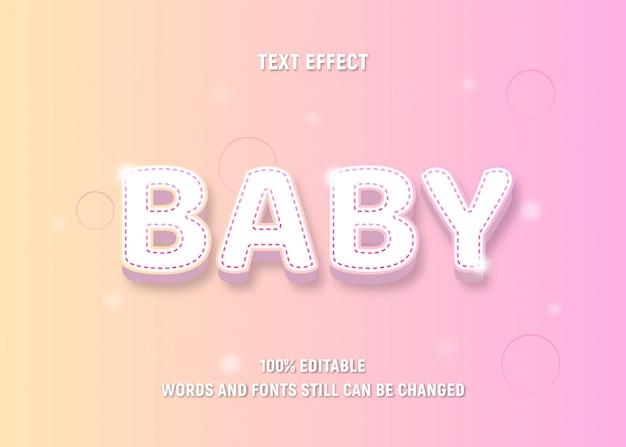 Texto editável colorido pastel sobre bebê