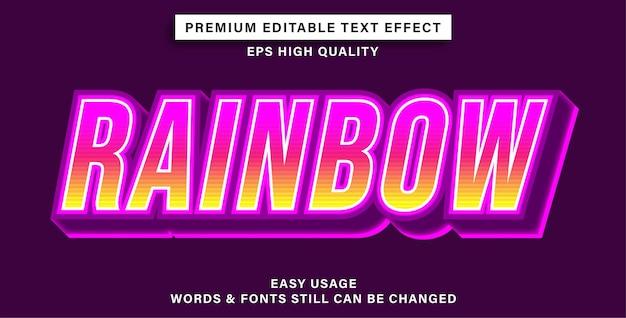 Texto editável com efeito de arco-íris