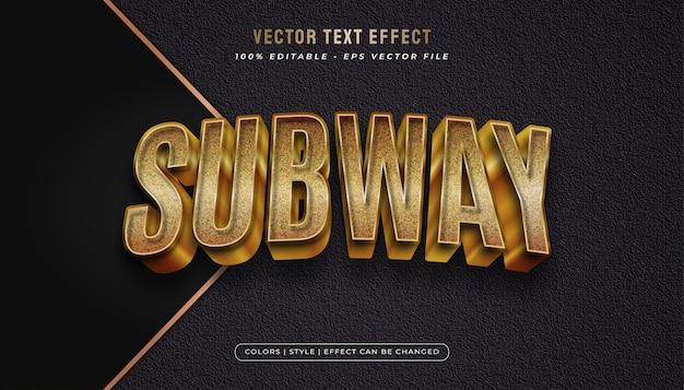 Texto editável com estilo ouro negrito em efeito realista