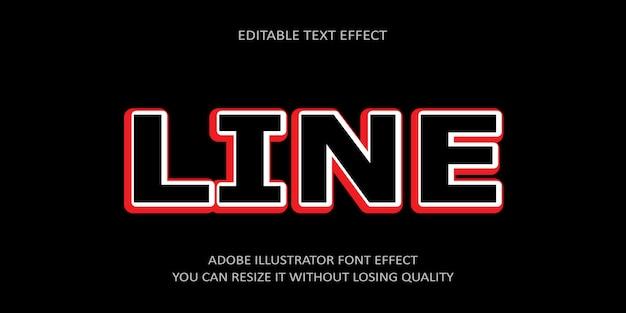 Texto editável da linha efeito
