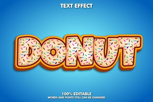 Texto editável de bolo donut