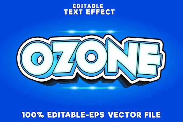 Texto editável de efeito de ozônio com estilo de quadrinhos moderno