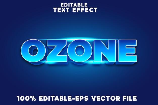 Texto editável de efeito de ozônio com novo estilo moderno