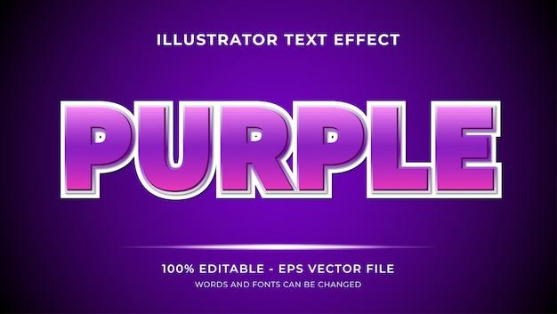 Texto editável de efeitos de estilo roxo