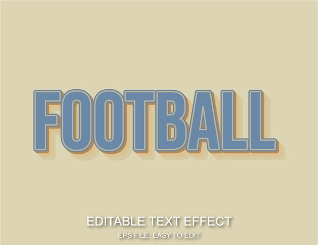 Texto editável de estilo retro vintage de futebol
