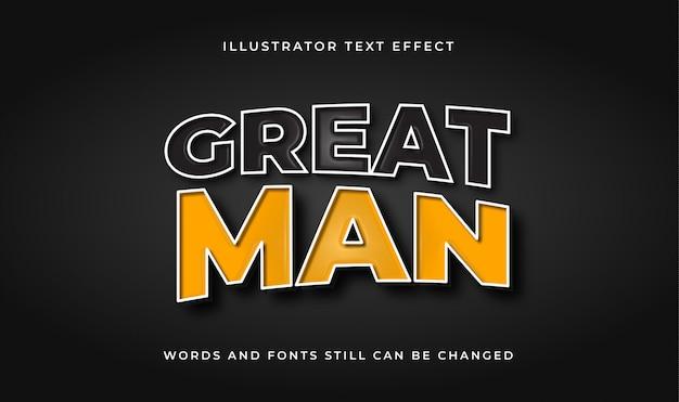 Texto editável de grande homem