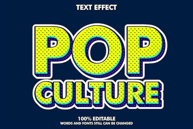 Texto editável de pop art moderno