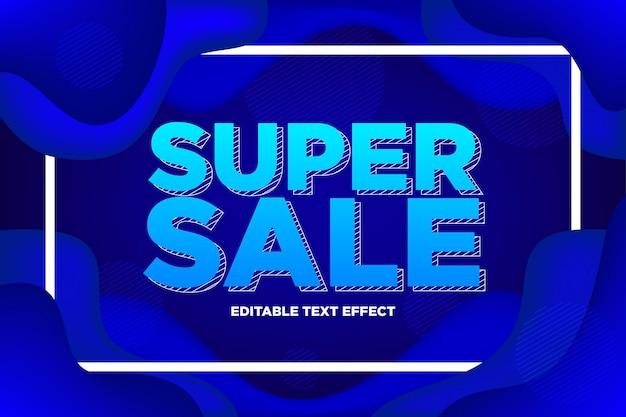 Texto editável de super venda com fundo abstrato líquido