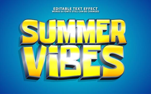 Texto editável de vetor de vibrações de verão