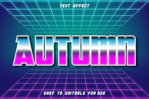 Texto editável efeito outono retro