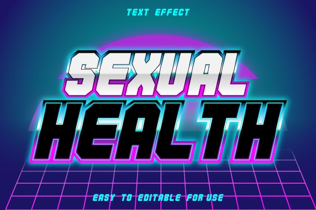 Texto editável efeito saúde sexual