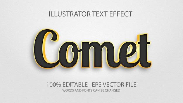 Texto editável em ouro preto elegante e realista