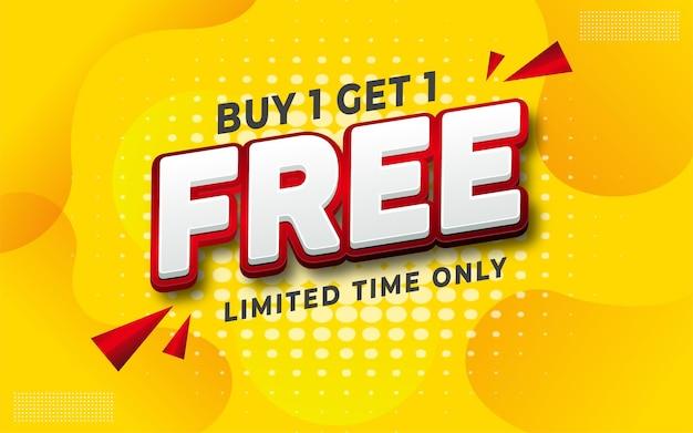 Texto editável venda gratuita em fundo amarelo