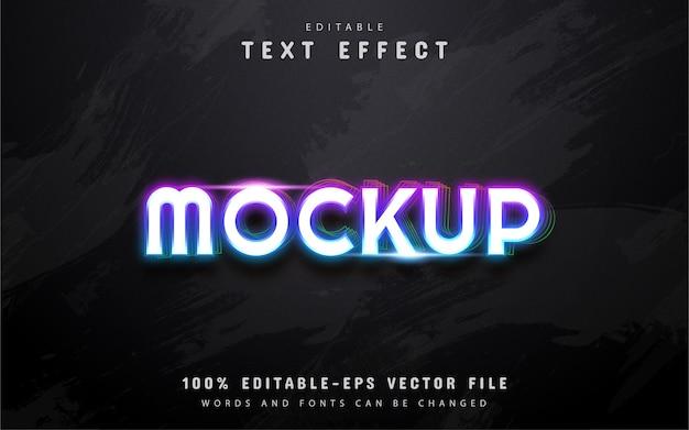 Texto, efeito de texto em estilo neon colorido