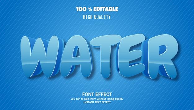 Texto em água, efeito de fonte editável
