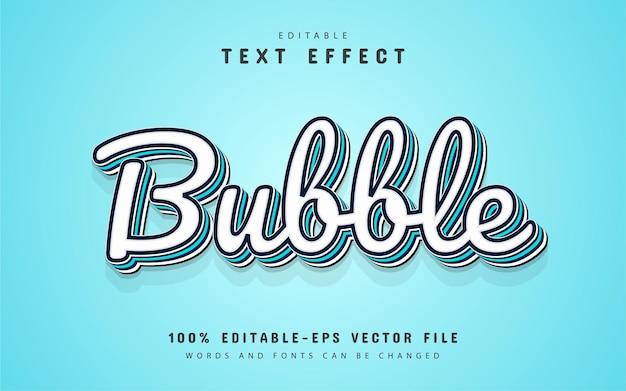 Texto em bolha, efeito de texto 3d editável