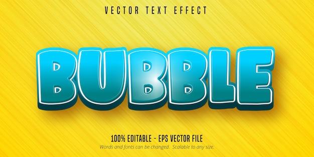 Texto em bolha, efeito de texto editável em estilo desenho animado