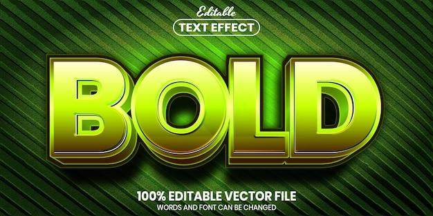 Texto em negrito, efeito de texto editável de estilo de fonte