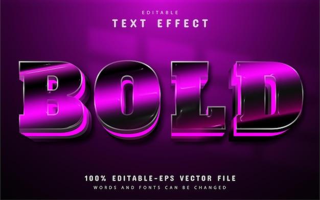 Texto em negrito, efeito de texto em gradiente roxo